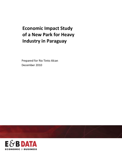 Economic and tax impact study in Paraguay